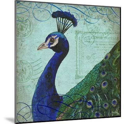 Parisian Peacock II-Elizabeth Medley-Mounted Art Print