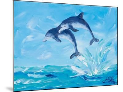Soaring Dolphins I-Julie DeRice-Mounted Art Print
