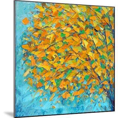 Autumn on Teal-Ann Marie Coolick-Mounted Premium Giclee Print