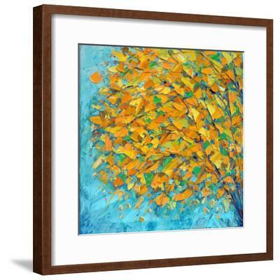 Autumn on Teal-Ann Marie Coolick-Framed Premium Giclee Print