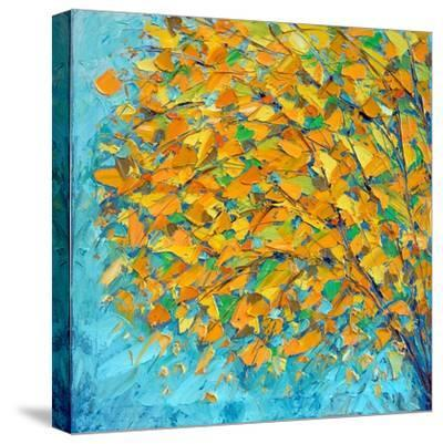 Autumn on Teal-Ann Marie Coolick-Stretched Canvas Print