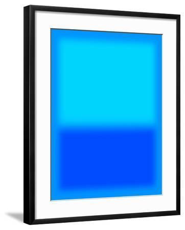 Blue and Aqua-Shelley Lake-Framed Art Print