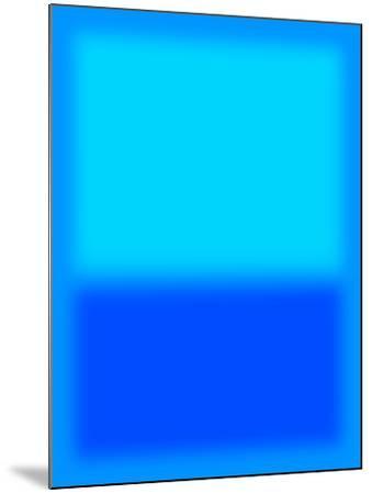 Blue and Aqua-Shelley Lake-Mounted Art Print