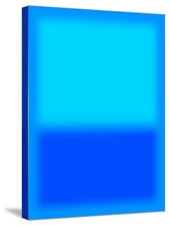 Blue and Aqua-Shelley Lake-Stretched Canvas Print