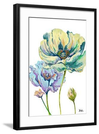 Fresh Colored Poppies II-Patricia Pinto-Framed Art Print