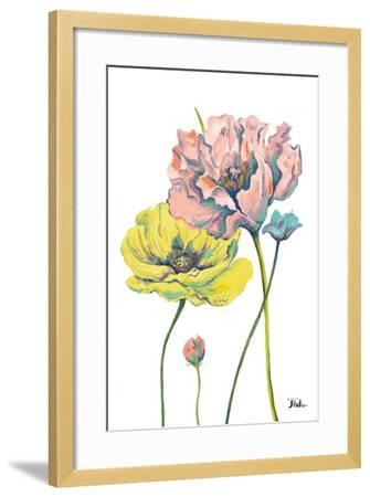 Fresh Colored Poppies I-Patricia Pinto-Framed Art Print
