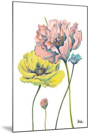 Fresh Colored Poppies I-Patricia Pinto-Mounted Art Print