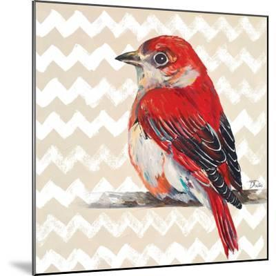 Cheveron Baby Red Bird II-Patricia Pinto-Mounted Premium Giclee Print
