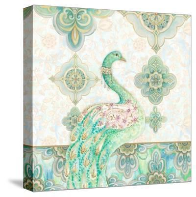 Emerald Peacock I-Janice Gaynor-Stretched Canvas Print