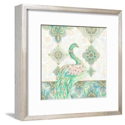 Emerald Peacock I-Janice Gaynor-Framed Art Print