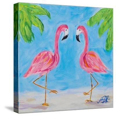 Fancy Flamingos III-Julie DeRice-Stretched Canvas Print