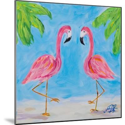 Fancy Flamingos III-Julie DeRice-Mounted Premium Giclee Print
