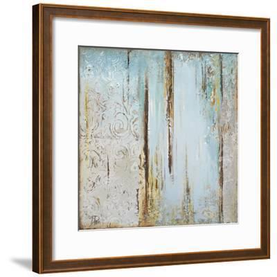 Blue Silver Square I-Patricia Pinto-Framed Art Print