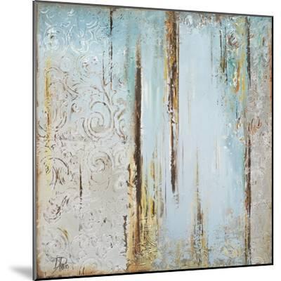 Blue Silver Square I-Patricia Pinto-Mounted Art Print