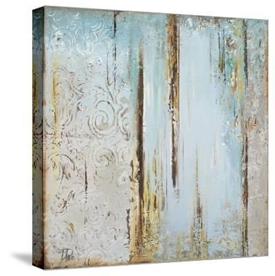 Blue Silver Square I-Patricia Pinto-Stretched Canvas Print