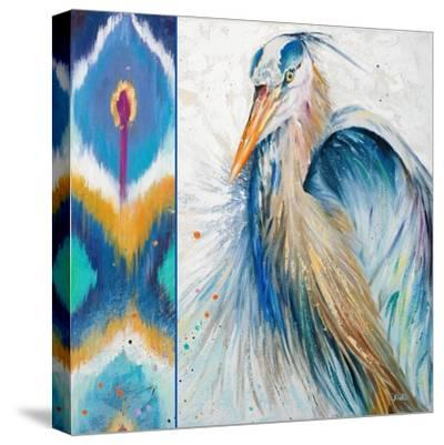 Blue Heron Ikat II-Patricia Pinto-Stretched Canvas Print