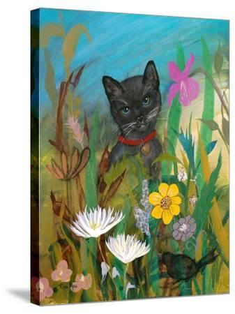 Cat in the Garden-Robin Maria-Stretched Canvas Print