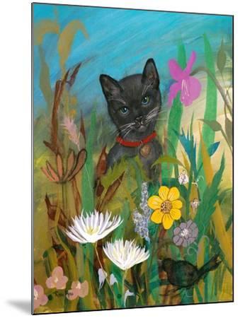 Cat in the Garden-Robin Maria-Mounted Art Print