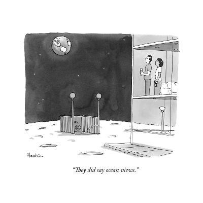 """They did say ocean views."" - New Yorker Cartoon-Charlie Hankin-Premium Giclee Print"