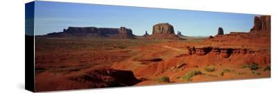 Monument Valley, Colorado Plateau, the Red Sandstone Buttes of the Valley, a National Park-Barry Herman-Stretched Canvas Print