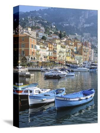 Cote D'Azur, Villefranche-Sur-Mer, View on Town and Port-Marcel Malherbe-Stretched Canvas Print