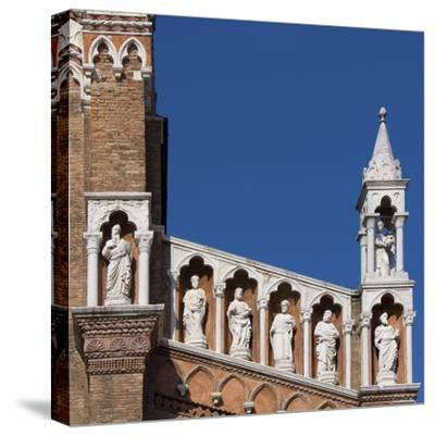 Venice Architectural Detail-Mike Burton-Stretched Canvas Print