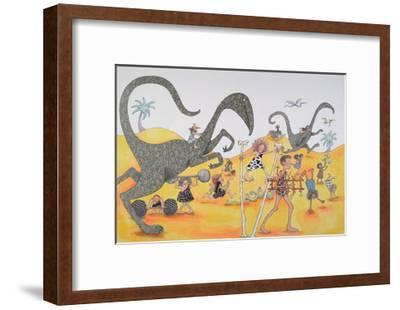 Dinosaurs Family Party-Susie Jenkin Pearce-Framed Art Print