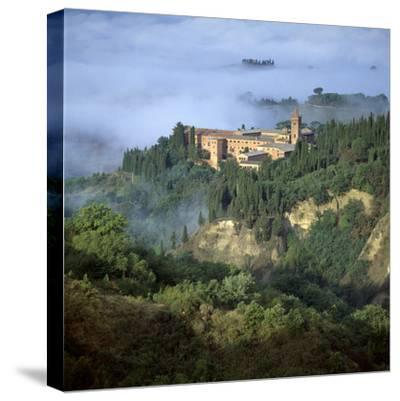 Abbazia Di Monte, Oliveto Maggiore, Tuscany, Italy-Joe Cornish-Stretched Canvas Print