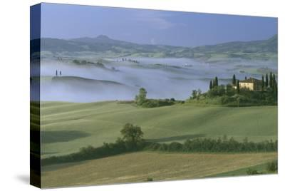 Misty Morning at the 'Belvedere', Val D' Orcia, Tuscany-Joe Cornish-Stretched Canvas Print