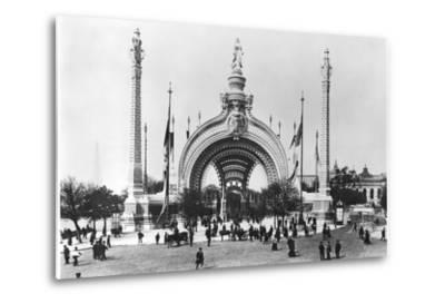 The Monumental Entrance at the Place de La Concorde at the Universal Exhibition of 1900, Paris-French Photographer-Metal Print