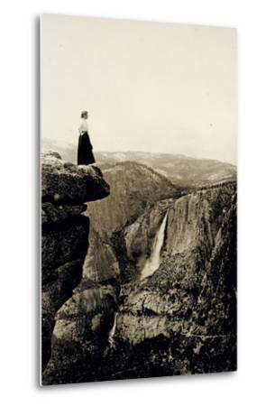 Looking across the Valley to Yosemite Falls, USA, 1917-Underwood & Underwood-Metal Print