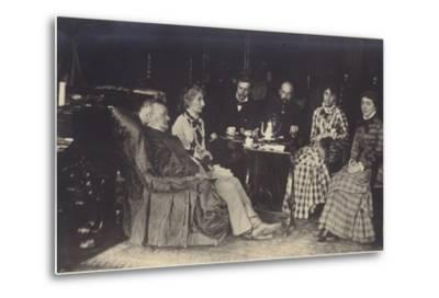 Portrait of Richard Wagner with Friends and Family-German photographer-Metal Print