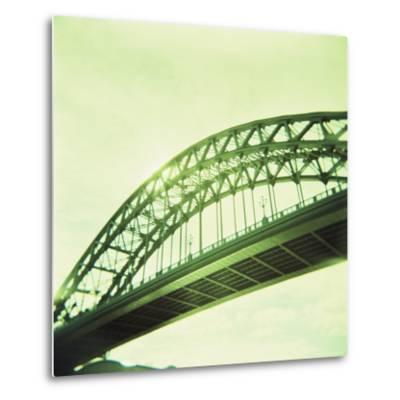 Arched Bridge Over River Tyne, Newcastle Upon Tyne, Tyne and Wear, England, United Kingdom, Europe-Lee Frost-Metal Print