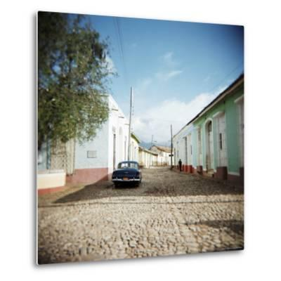 Street Scene with Colourful Houses, Trinidad, Cuba, West Indies, Central America-Lee Frost-Metal Print