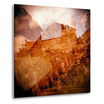 Montage of the Spanish Steps, Rome, Italy-Nancy & Steve Ross-Metal Print