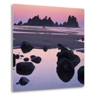 Shi Shi Beach, Olympic National Park, Washington, USA-Charles Gurche-Metal Print