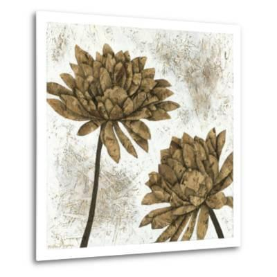White Washed Dahlias I-Megan Meagher-Metal Print