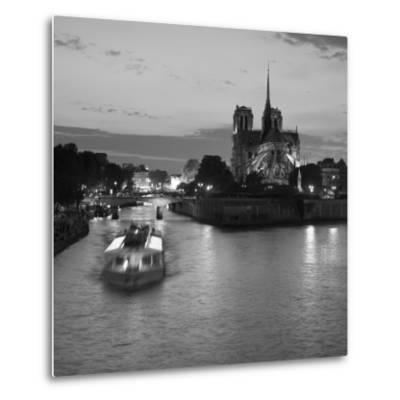 Notre Dame Cathedral and River Seine, Paris, France-Jon Arnold-Metal Print