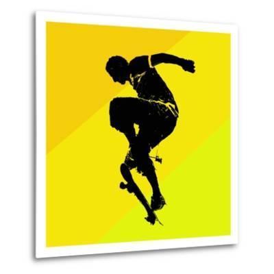 Skate Trick--Metal Print