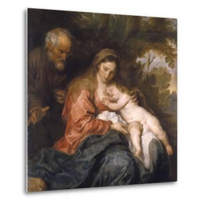 Rest on the Flight into Egypt by Anthony van Dyck--Metal Print