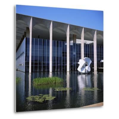 Palacio Do Itamaraty, Brasilia, UNESCO World Heritage Site, Brazil, South America-Geoff Renner-Metal Print