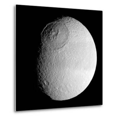 Saturn's Moon Tethys-Stocktrek Images-Metal Print