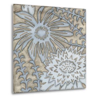Silver Filigree III-Megan Meagher-Metal Print