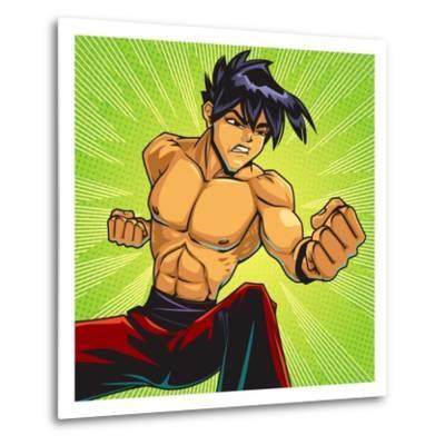 Anime Fighter-Harry Briggs-Metal Print