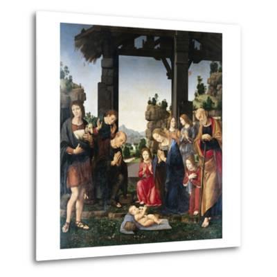Adoration of the Shepherds-Lorenzo di Credi-Metal Print