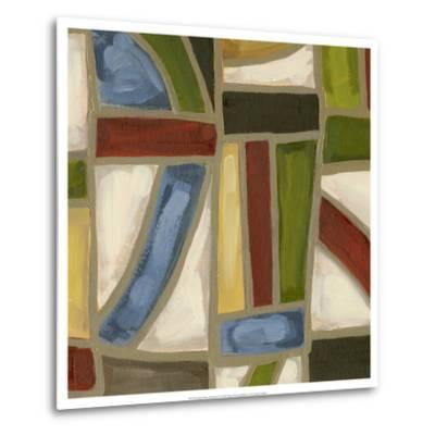 Stained Glass Abstraction IV-Karen Deans-Metal Print