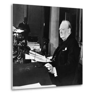 Winston Churchill--Metal Print