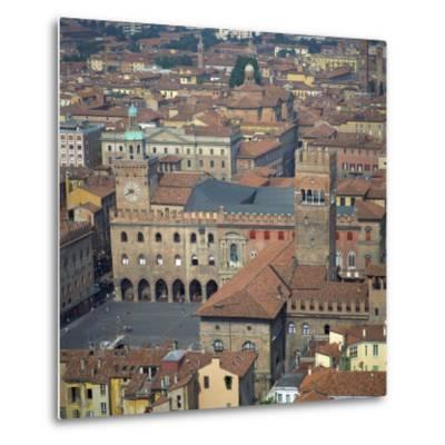 Aerial View over Central Bologna, Emilia-Romagna, Italy, Europe-Tony Gervis-Metal Print