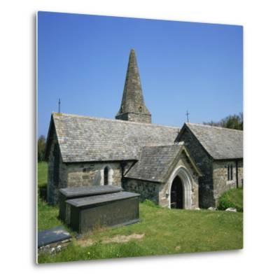 Church of St. Enodor, Rock, Cornwall, England, United Kingdom, Europe-Michael Jenner-Metal Print