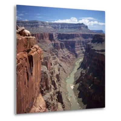 Deep Gorge of the Colorado River on the West Rim of the Grand Canyon, Arizona, USA-Tony Gervis-Metal Print